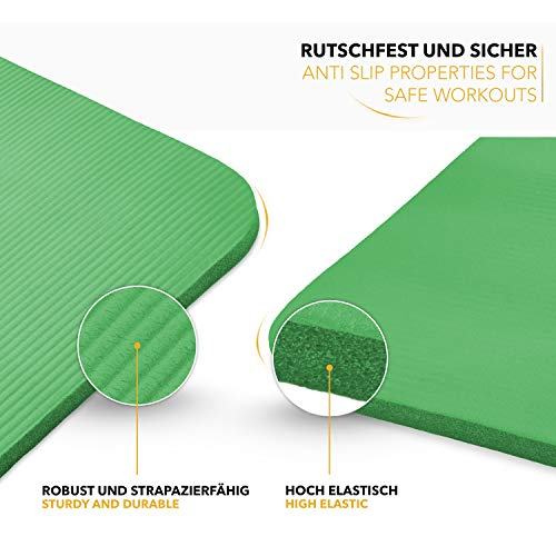 Tapis Gym Yoga confortable vert moelleux