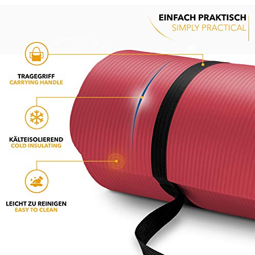 Top Tapis Gym Yoga confortable fitness rouge