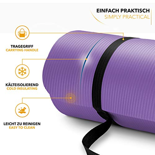 Tapis Gym Yoga confortable fitness violet