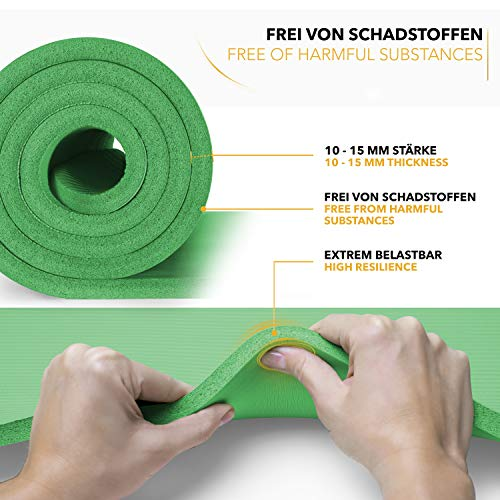 Tapis Gym Yoga confortable quality vert