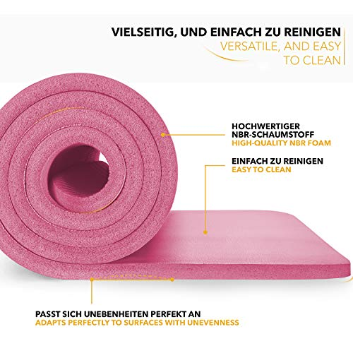 Tapis Gym Yoga confortable welness rose