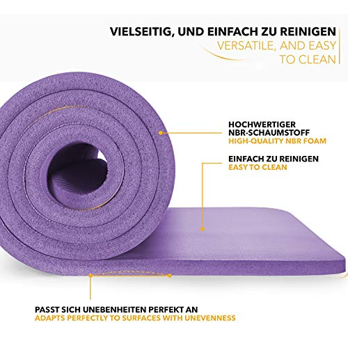Tapis Gym Yoga confortable quality violet
