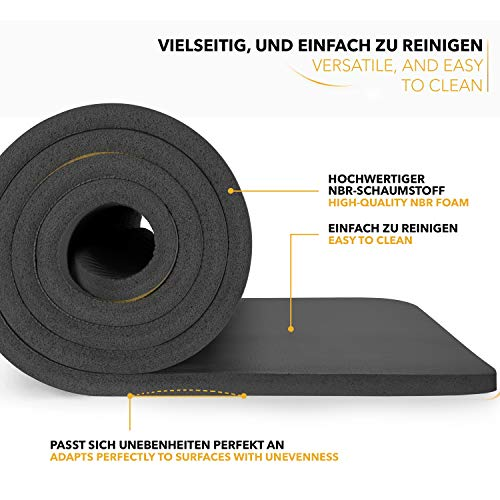 Tapis Gym Yoga confortable welness noir