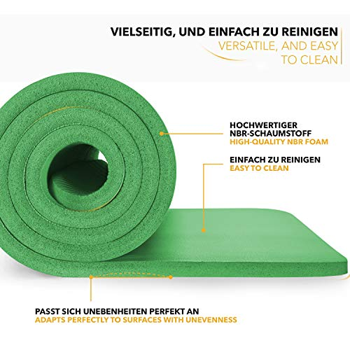 Tapis Gym Yoga confortable welness vert