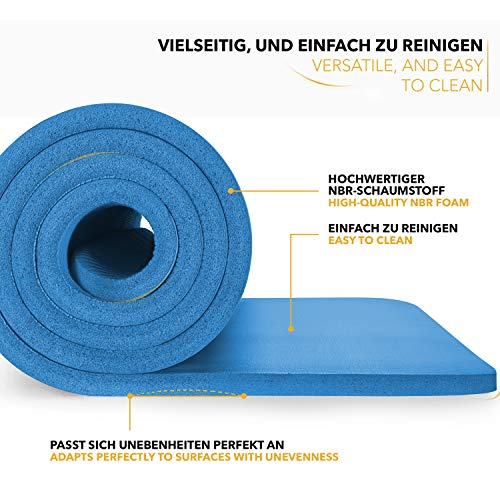 Tapis Gym Yoga confortable welness bleu